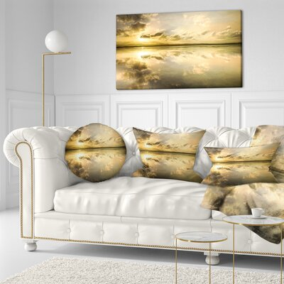 Amazing Foreshore Reserve Reflection Seashore Throw Pillow Size: 16 x 16