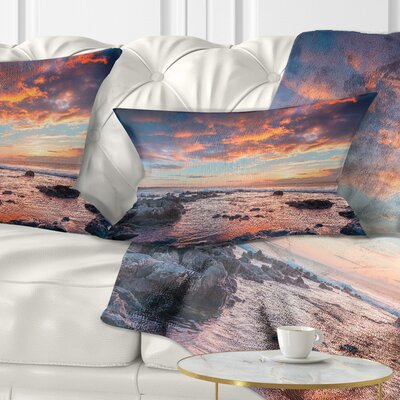 Passero Cape Spring Sunrise Seashore Photo Pillow Size: 12 x 20, Product Type: Lumbar Pillow