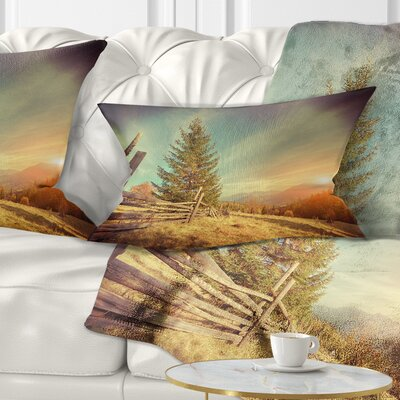 Autumn in Mountains Landscape Photo Pillow Size: 12 x 20, Product Type: Lumbar Pillow