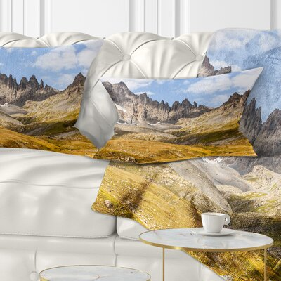 Hills and Valleys in Golden Morning Landscape Photography Pillow Size: 12 x 20, Product Type: Lumbar Pillow