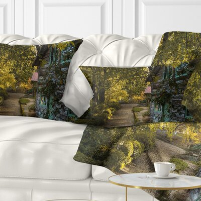 Pathway in the Garden Landscape Printed Pillow Size: 12 x 20, Product Type: Lumbar Pillow