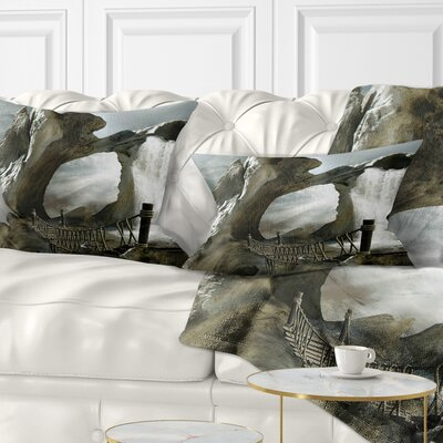 Large Trunk with Waterfall Landscape Printed Pillow Size: 12 x 20, Product Type: Lumbar Pillow