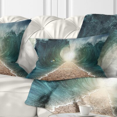 Pathway through the Parted Seas Seashore Pillow Size: 12 x 20, Product Type: Lumbar Pillow
