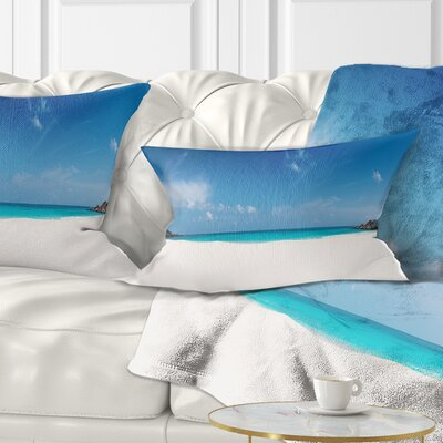 Petite Anse Beach La Digue Island Seascape Pillow Size: 12 x 20, Product Type: Lumbar Pillow