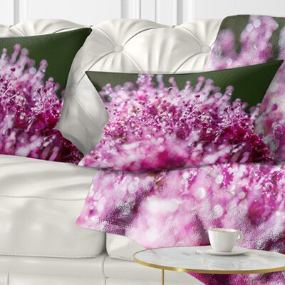 Little Flowers Close up View Floral Pillow Size: 12 x 20, Product Type: Lumbar Pillow