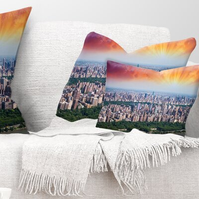 New York Beautiful Manhattan Skyline Cityscape Pillow Size: 12 x 20, Product Type: Lumbar Pillow