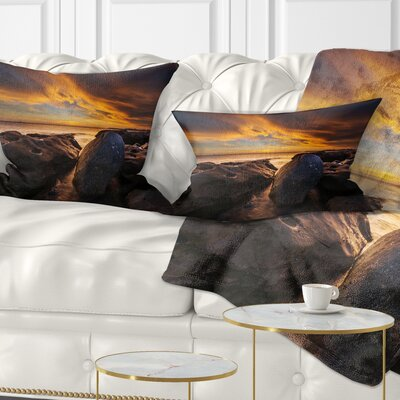 La Perhouse Beach Sydney Seascape Pillow Size: 12 x 20, Product Type: Lumbar Pillow