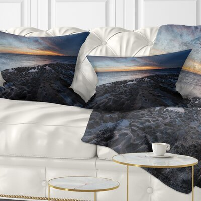 La Perouse Beach Sydney Seascape Pillow Size: 12 x 20, Product Type: Lumbar Pillow