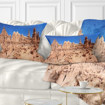 Hoodoo Rock Pinnacles in Goblin Valley Landscape Printed Pillow Size: 12 x 20, Product Type: Lumbar Pillow