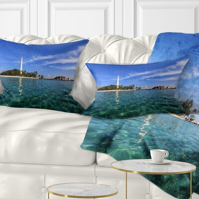 Lengkuas Island Indonesia Seascape Pillow Size: 12 x 20, Product Type: Lumbar Pillow
