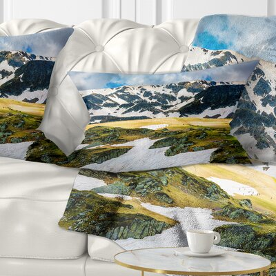 Rila Lakes and Mountains in Bulgaria Landscape Printed Pillow Size: 12 x 20, Product Type: Lumbar Pillow