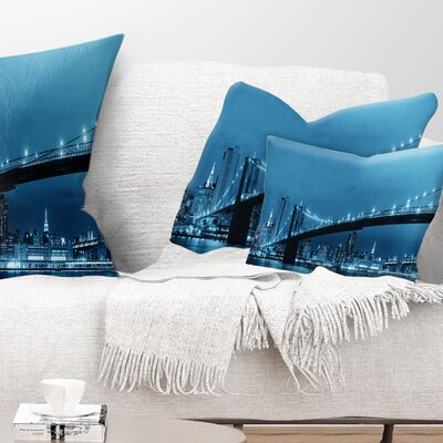Manhattan Downtown Urban View Cityscape Pillow Size: 12 x 20, Product Type: Lumbar Pillow