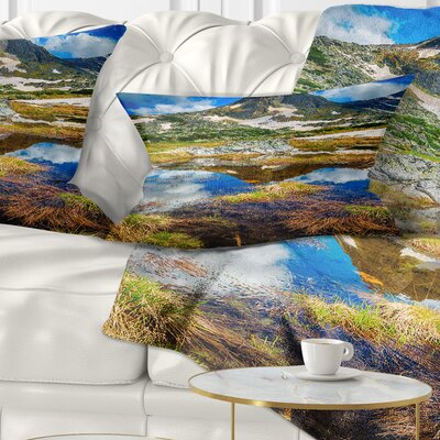 Rila Lakes District with Reflection Landscape Printed Pillow Size: 12 x 20, Product Type: Lumbar Pillow