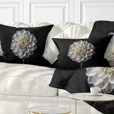 Isolated Dahlia Flower in Floral Pillow Size: 12 x 20, Product Type: Lumbar Pillow