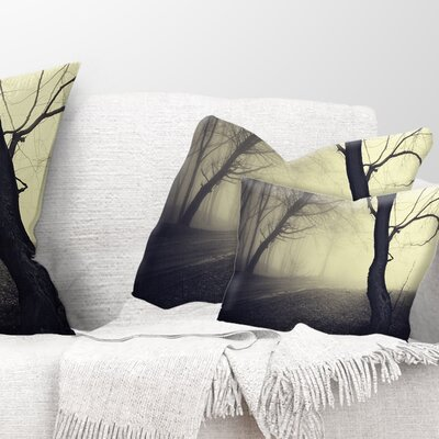 Old Looking Fall Forest Shoot Landscape Photography Pillow Size: 12 x 20, Product Type: Lumbar Pillow
