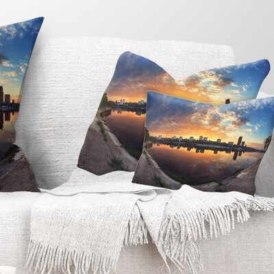 Long Summer Sunset in Landscape Photography Pillow Size: 12 x 20, Product Type: Lumbar Pillow