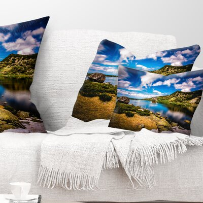 Long View of Seven Rila Lakes Landscape Printed Pillow Size: 12 x 20, Product Type: Lumbar Pillow