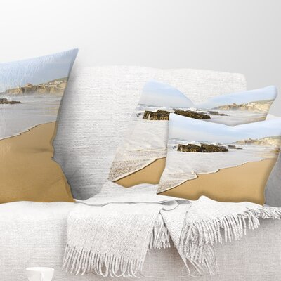 Magoito Beach Portugal Seascape Pillow Size: 12 x 20, Product Type: Lumbar Pillow