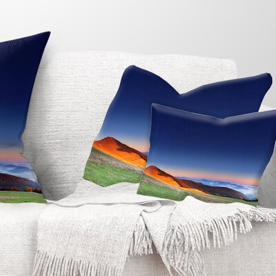 Majestic and Sunrise Landscape Photo Pillow Size: 12 x 20, Product Type: Lumbar Pillow