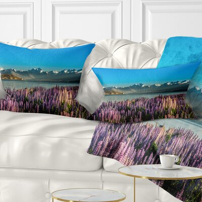 Incredible Mountains Waters and Flowers Landscape Printed Pillow Size: 12 x 20, Product Type: Lumbar Pillow