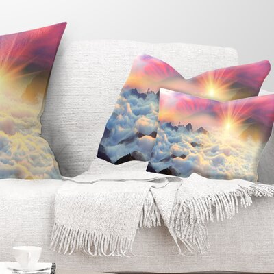 Misty Beautiful Chornogory Ridge Landscape Photography Pillow Size: 12 x 20, Product Type: Lumbar Pillow