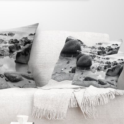 Moeraki Boulders Seashore Photo Pillow Size: 12 x 20, Product Type: Lumbar Pillow