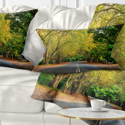 Road Through Stunning Greenery Landscape Printed Pillow Size: 12 x 20, Product Type: Lumbar Pillow