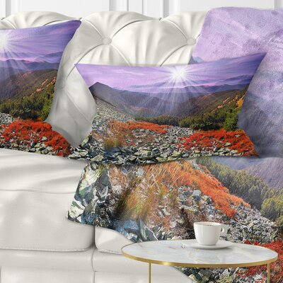 Rocky and Carpathian Landscape Photo Pillow Size: 12 x 20, Product Type: Lumbar Pillow