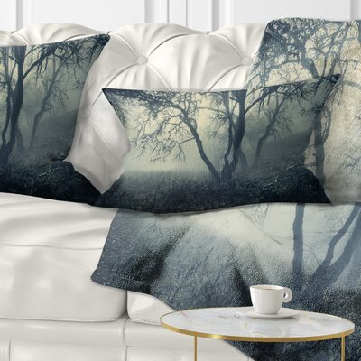 Forest in Morning Landscape Photography Pillow Size: 12 x 20, Product Type: Lumbar Pillow
