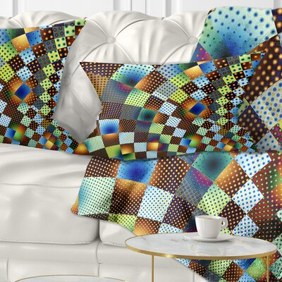 Fractal Geometric Ornament Design Contemporary Pillow Size: 12 x 20, Product Type: Lumbar Pillow