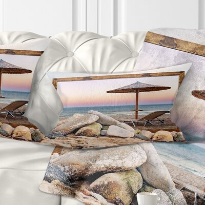 Framed Effect Beach Seating Seashore Pillow Size: 12 x 20, Product Type: Lumbar Pillow