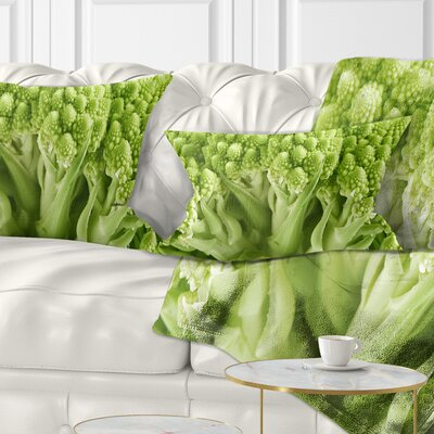 Fresh Romanesco Florets Floral Pillow Size: 12 x 20, Product Type: Lumbar Pillow