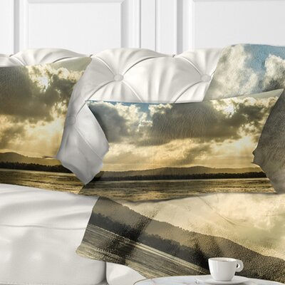 Heavy Clouds over Foreshore Reserve Seashore Pillow Size: 12 x 20, Product Type: Lumbar Pillow