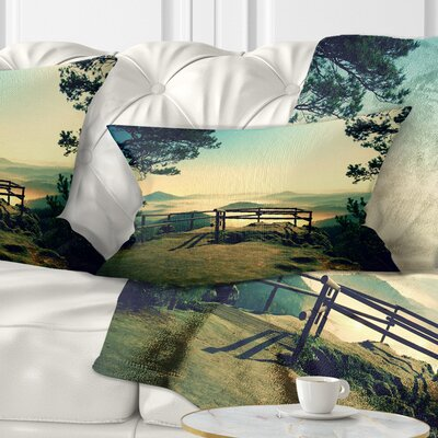 Full Moon Autumn Midnight Landscape Photo Pillow Size: 12 x 20, Product Type: Lumbar Pillow