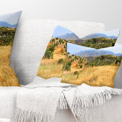 Cyprus Landscape Panoramic View Landscape Printed Pillow Size: 12 x 20, Product Type: Lumbar Pillow