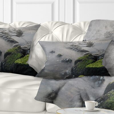 Rocks in Beautiful Sydney Coastline Seashore Pillow Size: 12 x 20, Product Type: Lumbar Pillow