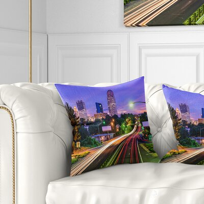 Winston Salem North Carolina Cityscape Pillow Size: 16 x 16, Product Type: Throw Pillow
