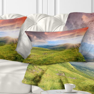 Summer in Carpathians Landscape Photo Pillow Size: 12 x 20, Product Type: Lumbar Pillow