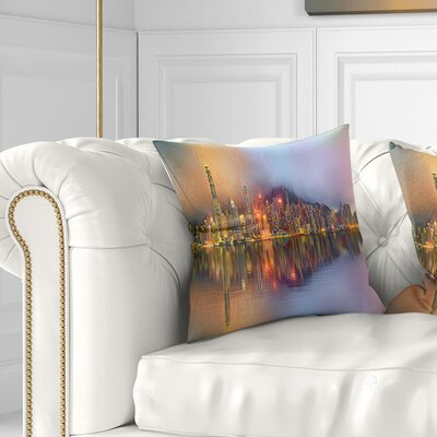 Singapore Financial District Island Cityscape Pillow Size: 18 x 18, Product Type: Throw Pillow