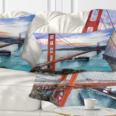 Gate in San Francisco Sea Bridge Pillow Size: 12 x 20, Product Type: Lumbar Pillow