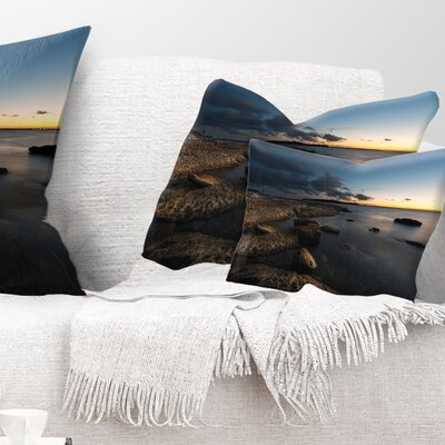 Sydney Coastline Seascape Pillow Size: 12 x 20, Product Type: Lumbar Pillow