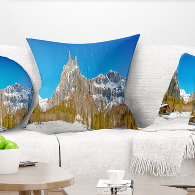 Sixt Fer a Cheval Panoramic View Landscape Printed Pillow Size: 26 x 26, Product Type: Euro Pillow
