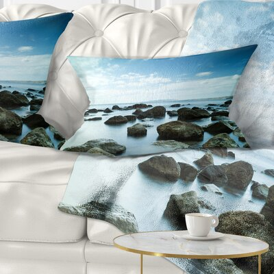 Sleeping Sea Under Sky Landscape Photo Pillow Size: 12 x 20, Product Type: Lumbar Pillow