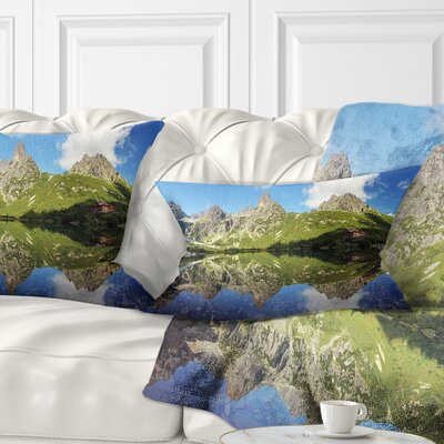 Lake in Tatra Mountain Landscape Photo Pillow Size: 12 x 20, Product Type: Lumbar Pillow