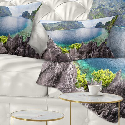 The Lagoon Panorama Landscape Printed Pillow Size: 12 x 20, Product Type: Lumbar Pillow