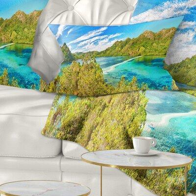 Snake Island Panorama Landscape Photo Pillow Size: 12 x 20, Product Type: Lumbar Pillow