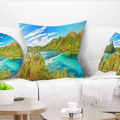 Snake Island Panorama Landscape Photo Pillow Size: 18 x 18, Product Type: Throw Pillow
