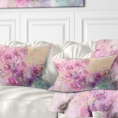 Twig of Lilac Flowers Floral Pillow Size: 12 x 20, Product Type: Lumbar Pillow