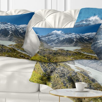 Mountains New Zealand Landscape Printed Pillow Size: 12 x 20, Product Type: Lumbar Pillow
