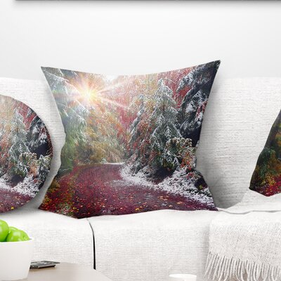 Breathtaking View of Aline Forest Landscape Photography Pillow Size: 26 x 26, Product Type: Euro Pillow